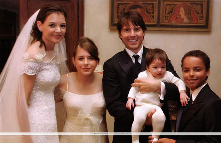 katie holmes wedding pictures. what did wife Katie Holmes
