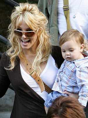 Britney and son