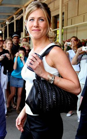 Jennifer Aniston Leather. Jennifer Aniston is trying