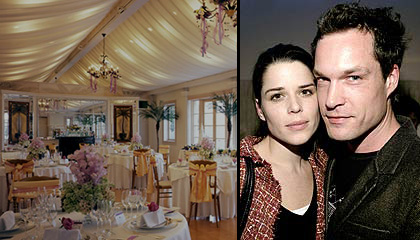 neve campbell amp john light get married in malibu