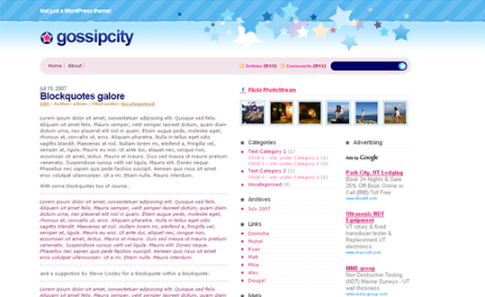 Gossip City - WordPress Theme Release