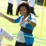 Hula Hoopin! What a first lady!