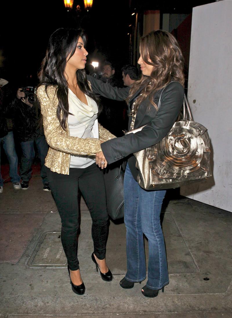 Kim Kardashian and Eva Longoria