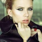 Scarlett Johansson popped collar