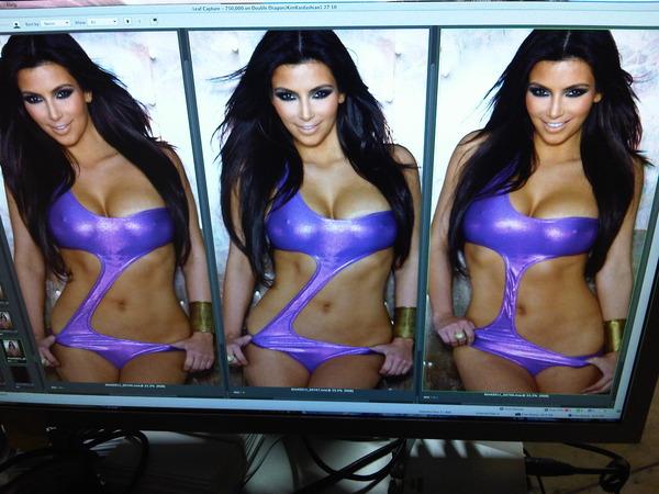 kim kardashian twitter bikini photo. Kim Kardashian#39;s Untouched
