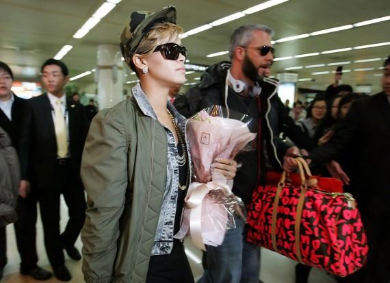Rihanna Arrives Seoul