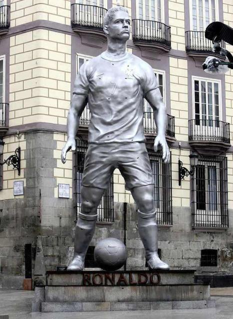 Presenting… The Cristiano Ronaldo Statue!