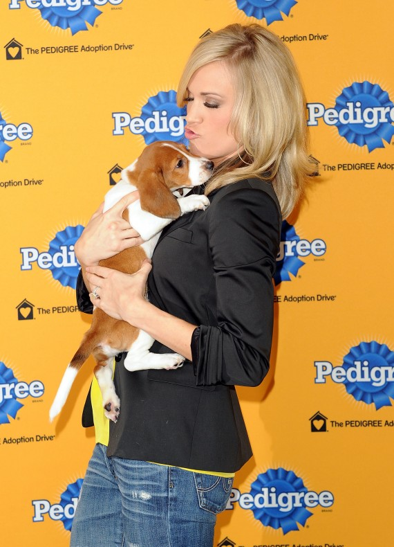 Carrie Underwood at the 6th Annual Pedigree Adoption Drive