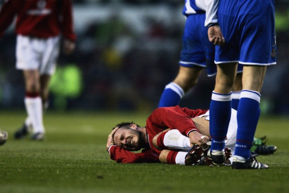 David Beckham injured