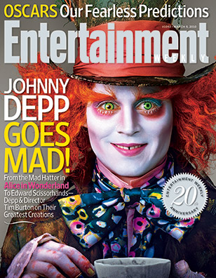 Mad Hatter Lands On EW Cover