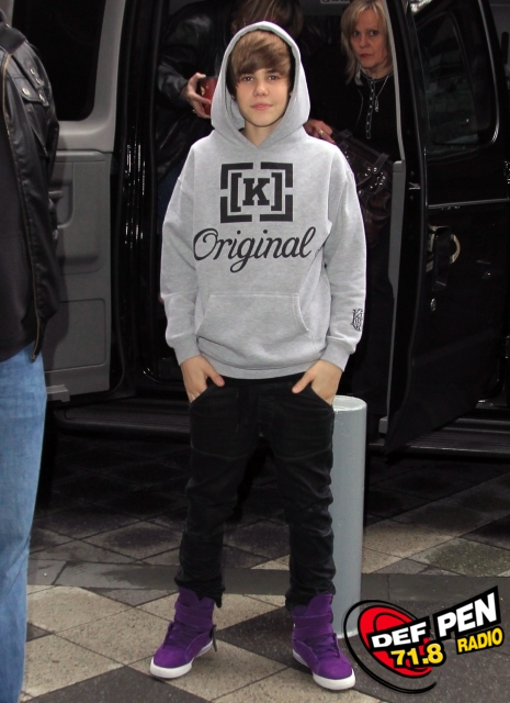 Justin Bieber Hits The BET Studios