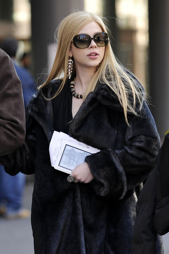Michelle Trachtenberg on the Set of 'Gossip Girl'