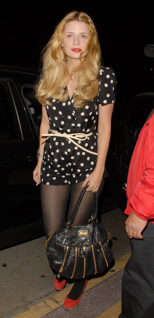 Mischa Barton at the She and Him Concert