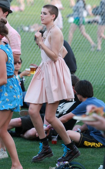 Agyness Deyn at Coachella 2010