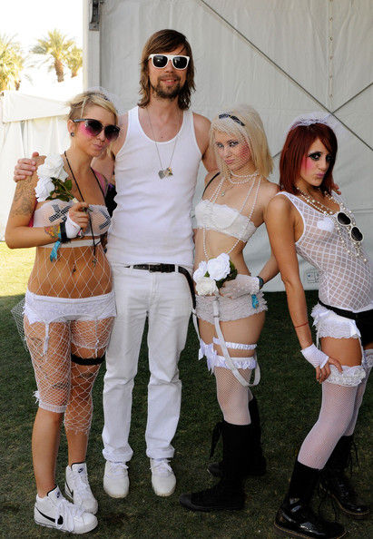 DJ Busy P with fans at Coachella 2010