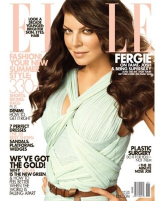 Fergie Celebrates Elle Cover