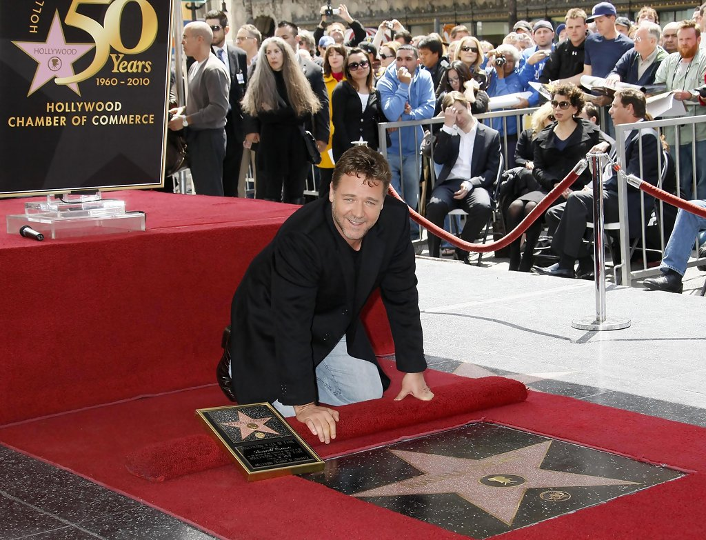 Russell Crowe Gets A Star