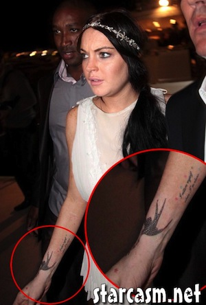 of misfits to get some ink done are Lindsay Lohan and Britney Spears.