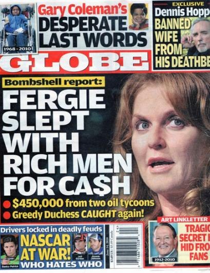 Fergie Hooking - The Globe Cover