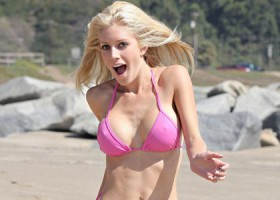 Heidi Montag - Post Surgery - Pink Bikini