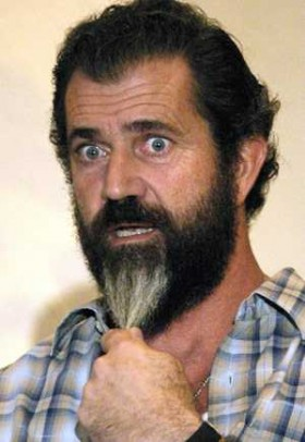 Mel Gibson looking crazy