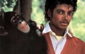 Bubbles The Chimp with Michael Jackson