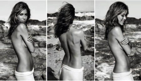 Jennifer Aniston Goes Topless For Perfume Ad