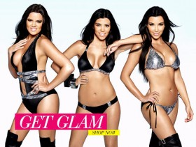 Kardashian sisters swimsuit ad - Photoshopped