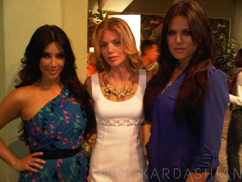 Kardashian Sisters on set of 90210