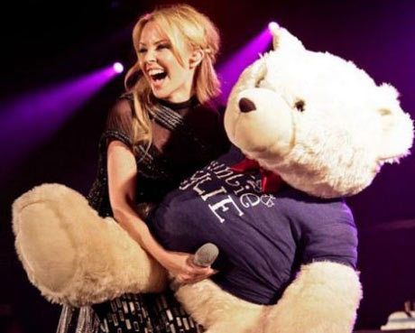 Kylie Minogue Teddy Bear Picture