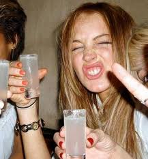Lindsay Lohan Partying Drunk Picture