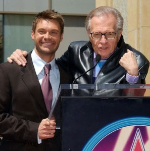 Larry King and Ryan Seacrest