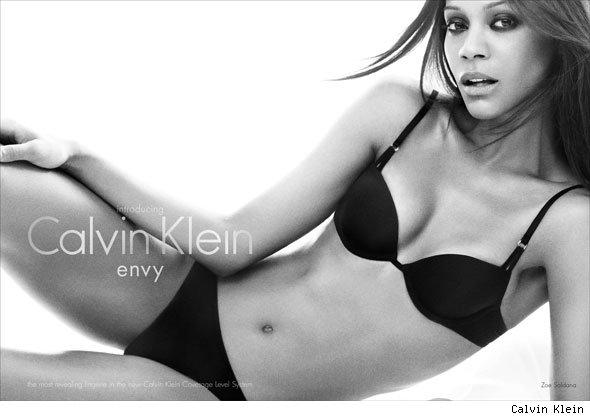 "Zoe Saldana - Calvin Klein ""Envy Line"" Photo Shoot"