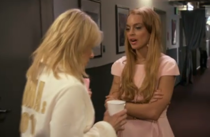 Lindsay Lohan Slaps Chelsea Handlers Butt At VMA's [Video]