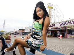 Snooki on the boardwalk of Jersey Shore
