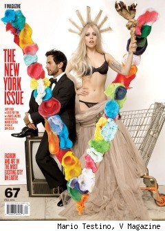Lady GaGa Poses As Half Naked Statue Of Liberty For V Magazine