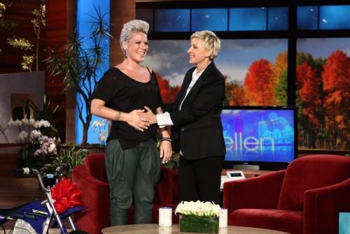 Pink Pregnant on Ellen Degeneres Show