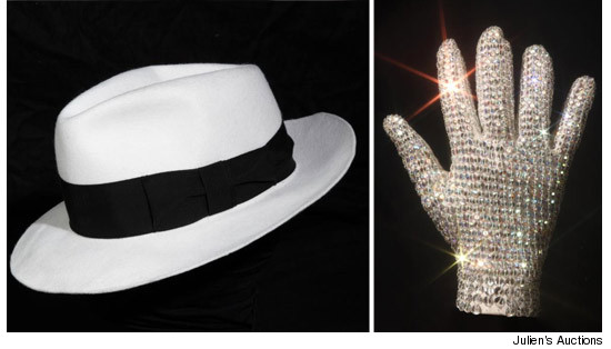"Michael Jacksons ""Bad"" Glove and Fedora"