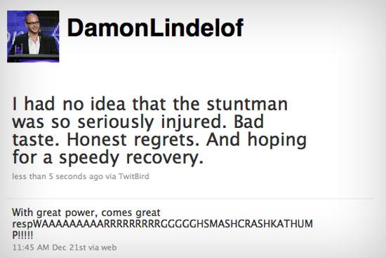Damon Lindelof - Lost Co-Creator Twitter Page