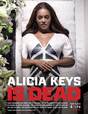 Alicia Keys - Digital Death Campaign