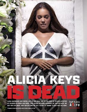 Alicia Keys - Digital Death Campaign