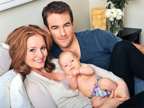 James Van Der Beek, Kimberly Brook and Child Olivia