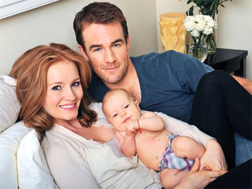 James Van Der Beek, Kimberly Brook and Child Olivia