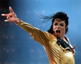 Michael Jackson Performing In Gold Outfit