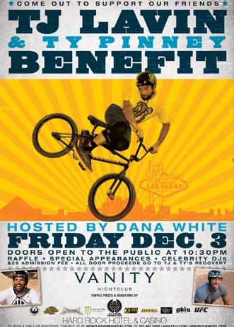 TJ Lavin Fundraiser Poster