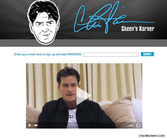 Charlie Sheen Official Website Goes Live