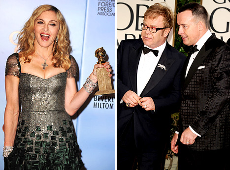 Madonna, Elton John Rift Reignited at Golden Globes