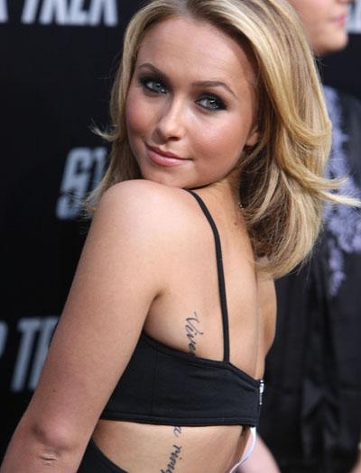 Hayden Panettiere Misspelled Tattoo