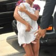 Beyonce in Braids Takes Baby Blue Out Shopping