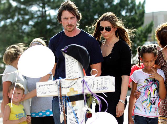 Christian Bale Visits Aurora Victims in Colorado